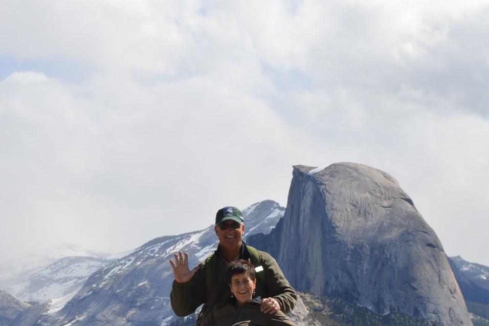 Elisa Graber's family hiking in Yosemite