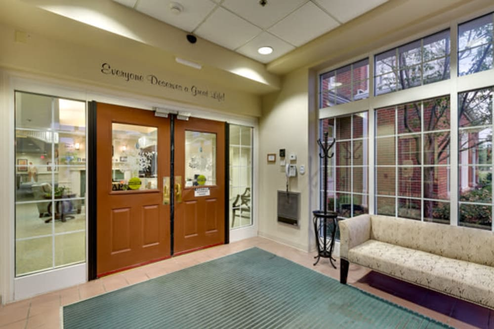 Entrance at Carriage Court of Kenwood in Cincinnati, Ohio