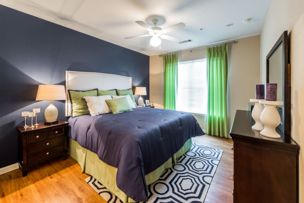 Cozy bedroom at Marquis at Canyon Ridge in Austin, Texas