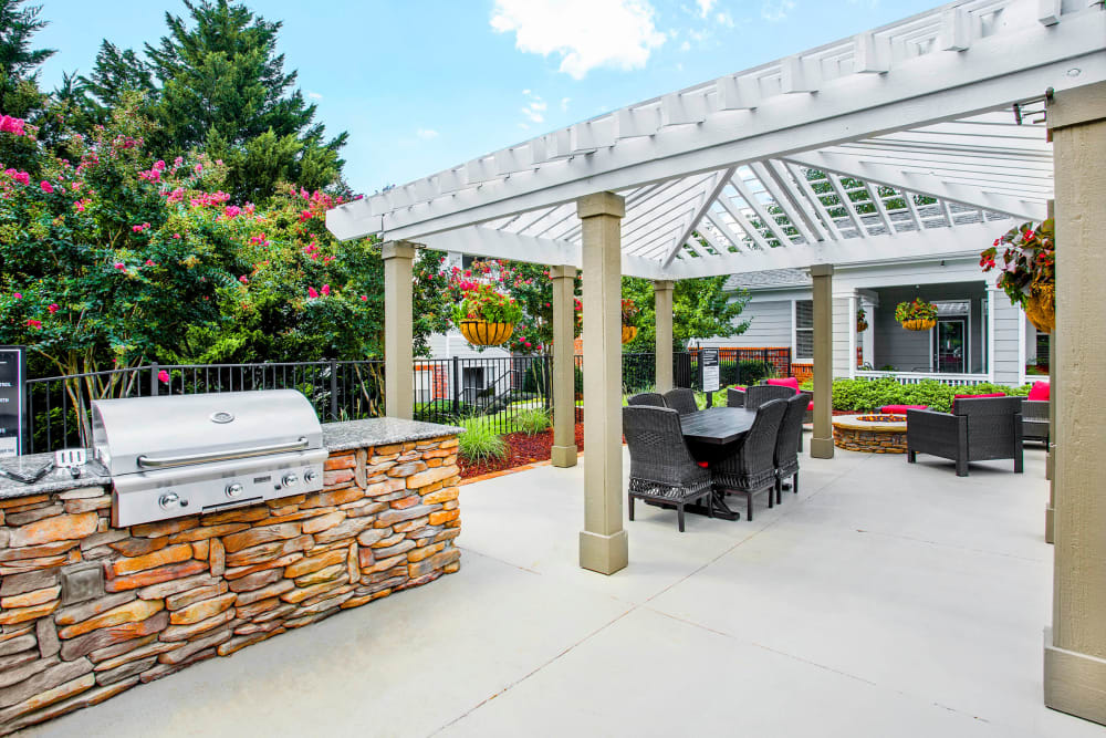 BBQ Area at The Seasons at Umstead in Raleigh, North Carolina