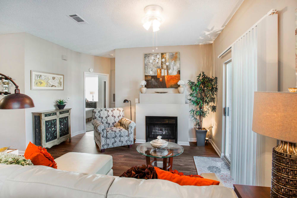 Modern and Comfortable Living Room at The Seasons at Umstead in Raleigh, North Carolina