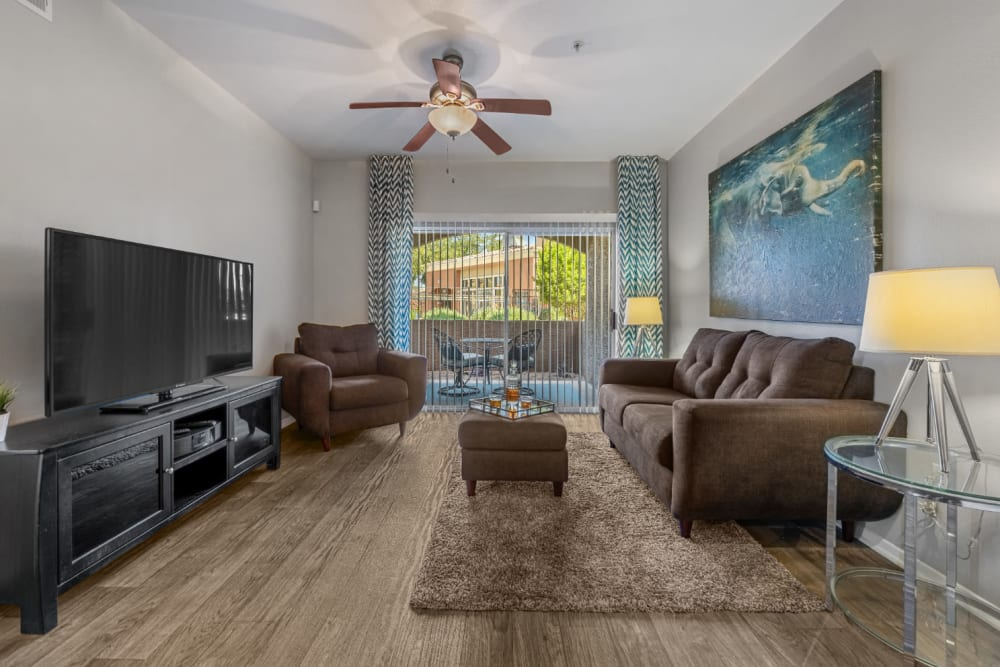 Spacios, well decorated living room at Alante at the Islands in Chandler, Arizona