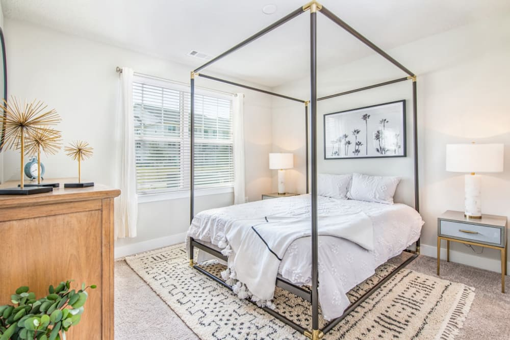 Large main bedroom in model home at The Mason in Ladson, South Carolina
