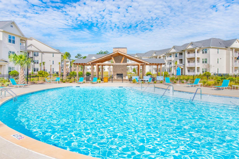 Poolside view at The Mason in Ladson, South Carolina