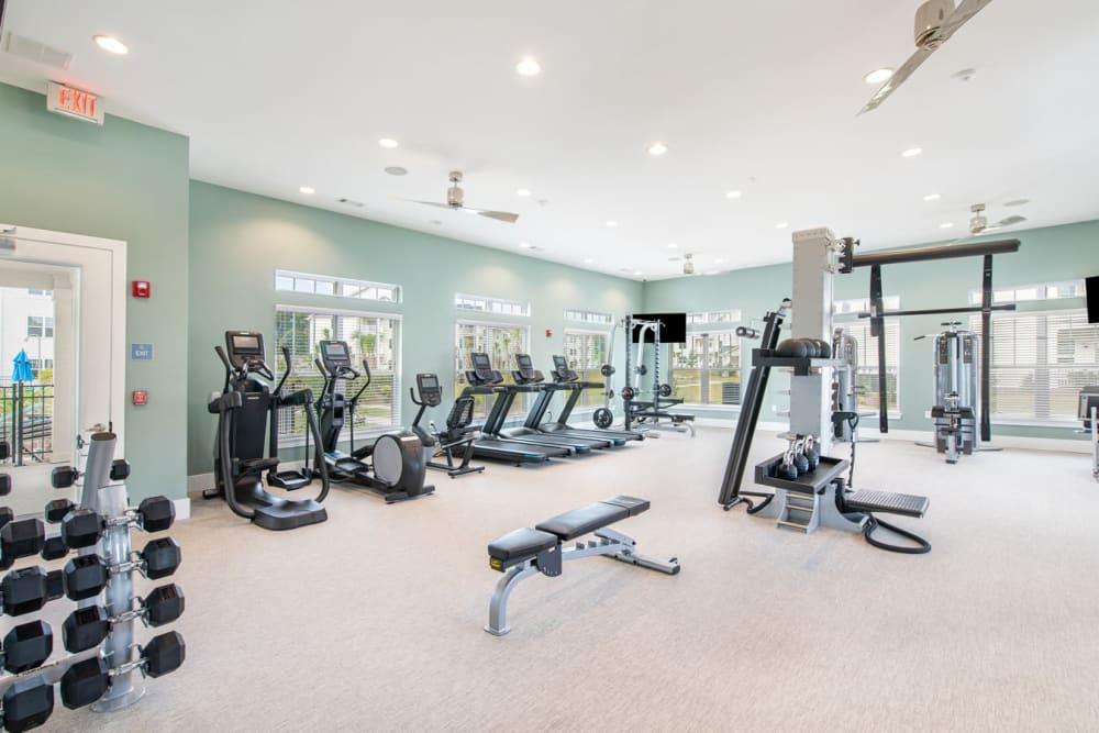 Exercise area at The Mason in Ladson, South Carolina