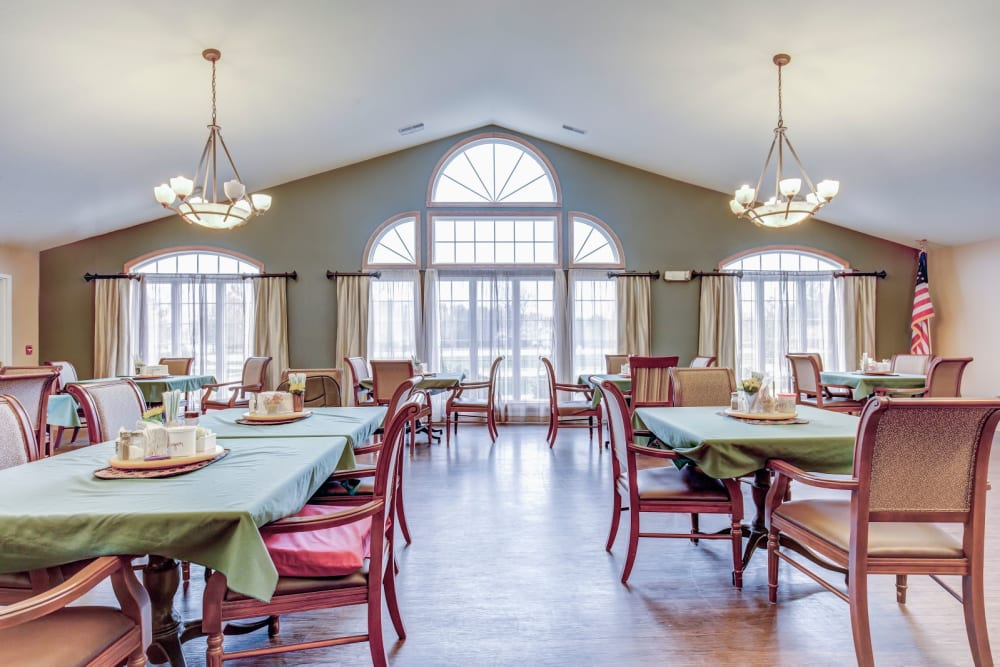Dinning room at Brookstone Estates of Charleston in Charleston, Illinois.