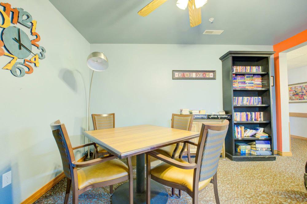 Game room at Brookstone Estates of Vandalia in Vandalia, Illinois