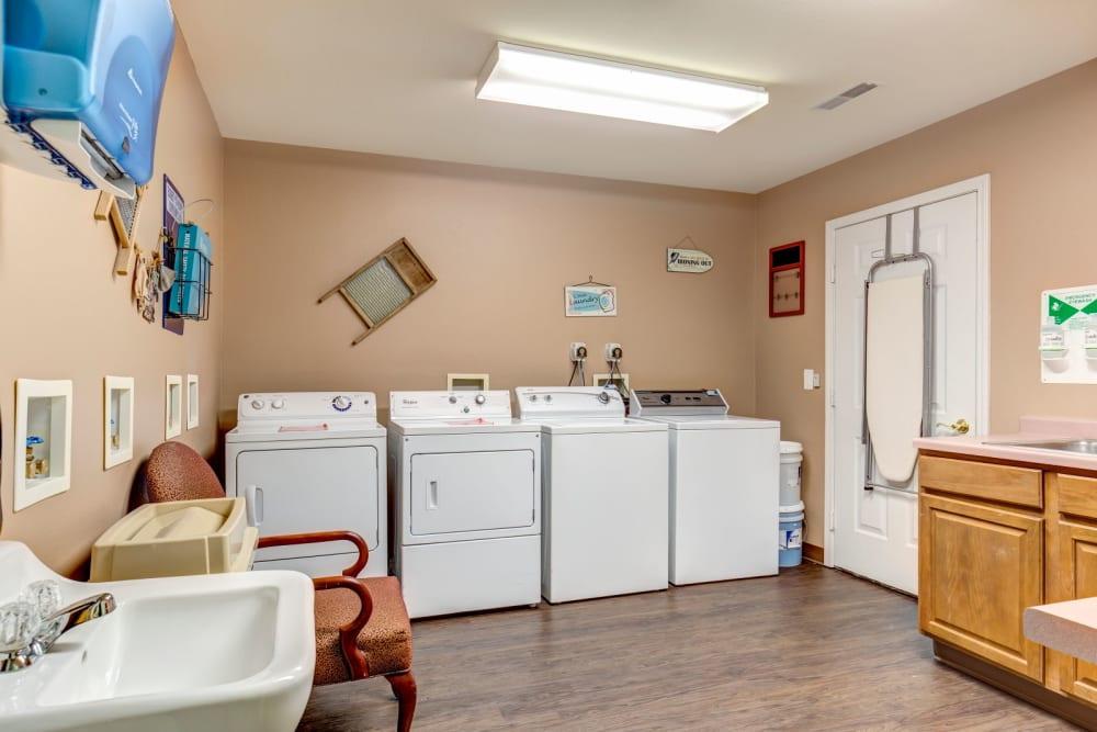 Laundry room at Brookstone Estates of Tuscola in Tuscola, Illinois