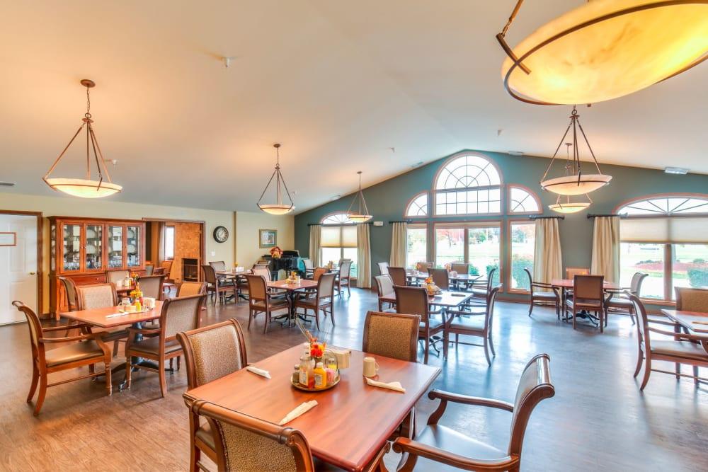 Gourmet dining area at Brookstone Estates of Effingham in Effingham, Illinois.