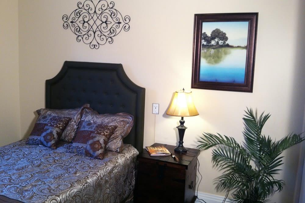 Elegant bedroom at Brookstone Estates of Robinson in Robinson, Illinois