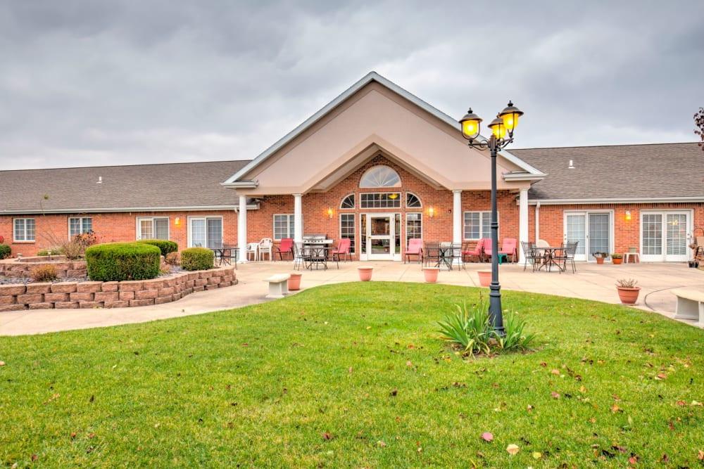 Front entrance at Brookstone Estates of Rantoul in Rantoul, Illinois