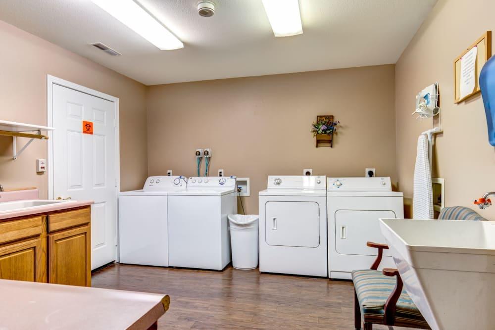 Laundry room at Brookstone Estates of Rantoul in Rantoul, Illinois