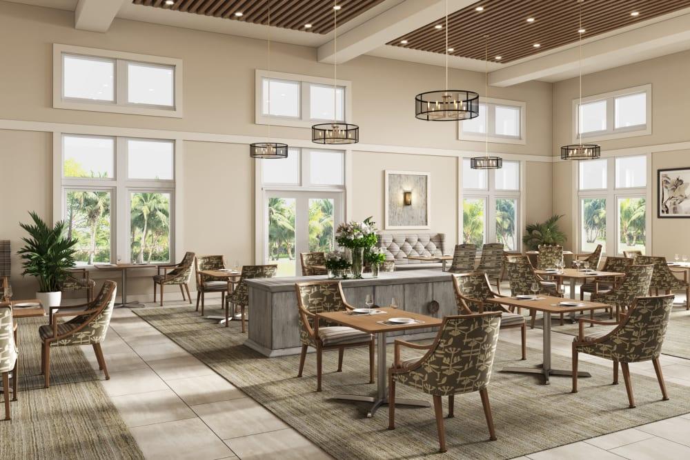 Large dining room at Gentry Park Orlando in Orlando, FL