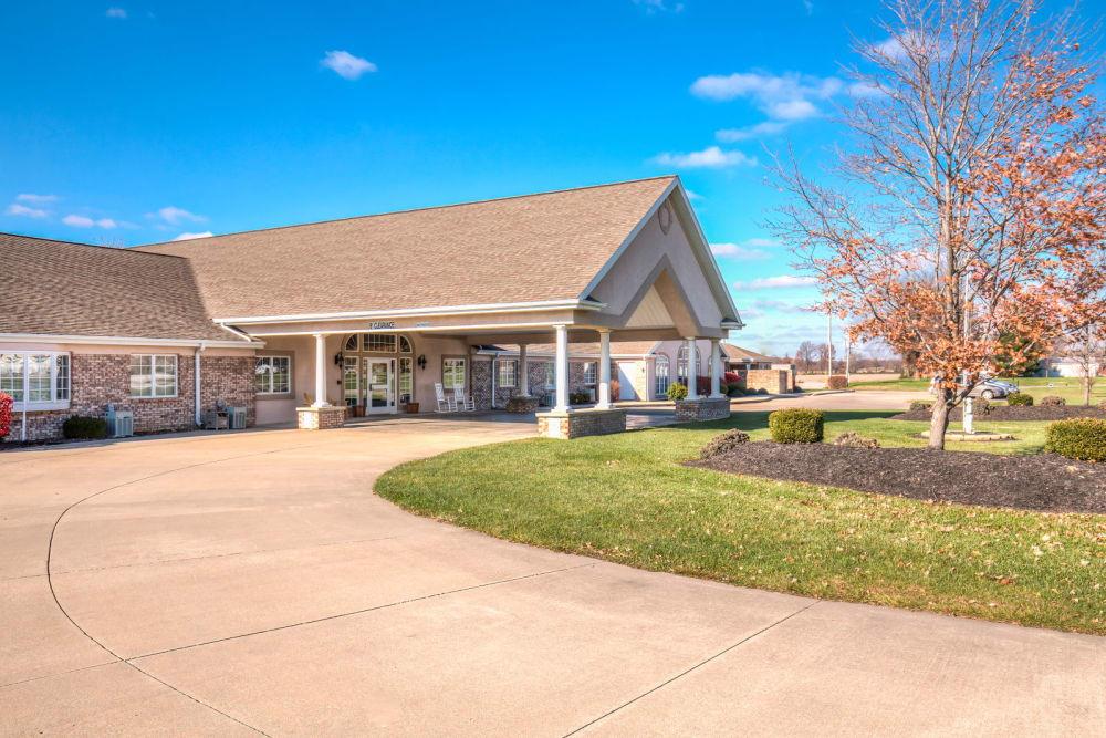 Outside the facility at Brookstone Estates of Fairfield in Fairfield, Illinois.