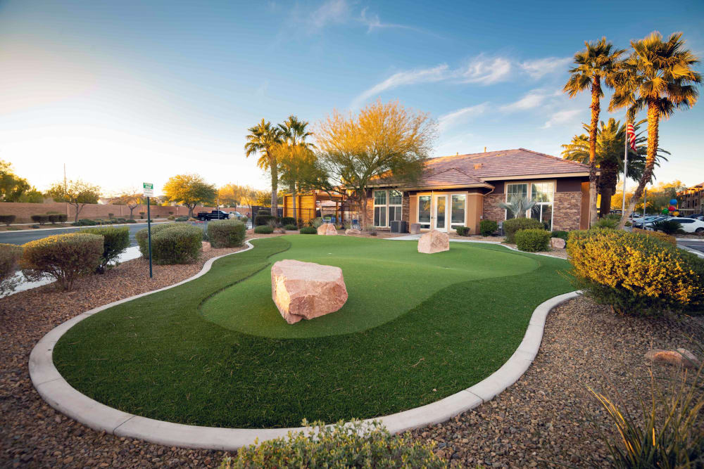 Our Apartments in North Las Vegas, Nevada offer a Putting Green