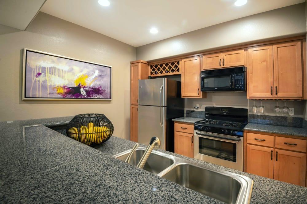 Kitchen at Norterra Canyon Apartments in North Las Vegas, Nevada