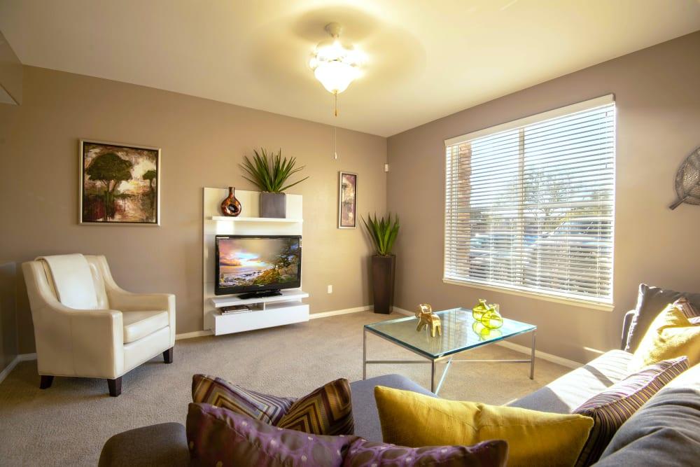 Beautiful Living Room at Norterra Canyon Apartments in North Las Vegas, Nevada