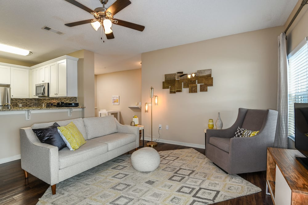 Living room at Ocean Park of Ponte Vedra in Jacksonville Beach, FL