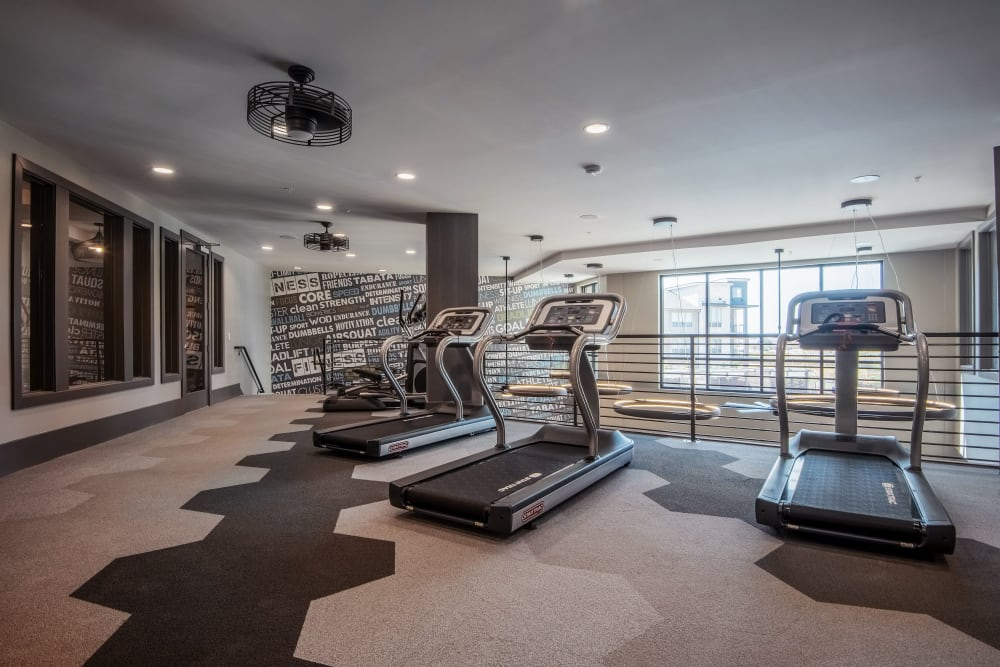 Full gym area at Domain at Founders Parc in Euless, Texas