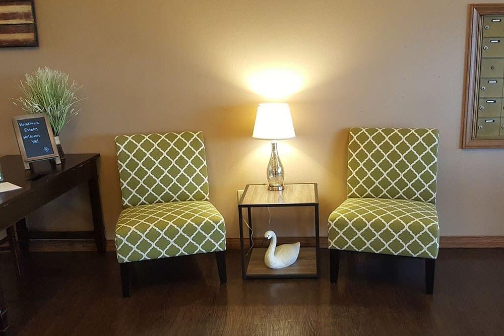 Comfortable lounge at Brookstone Estates of Mattoon North in Mattoon, Illinois