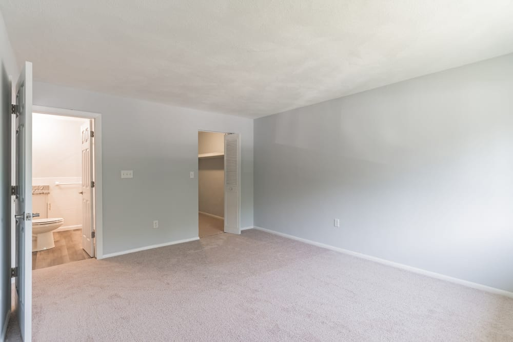 Bedroom ready to move in at Park Village West in Westborough, Massachusetts