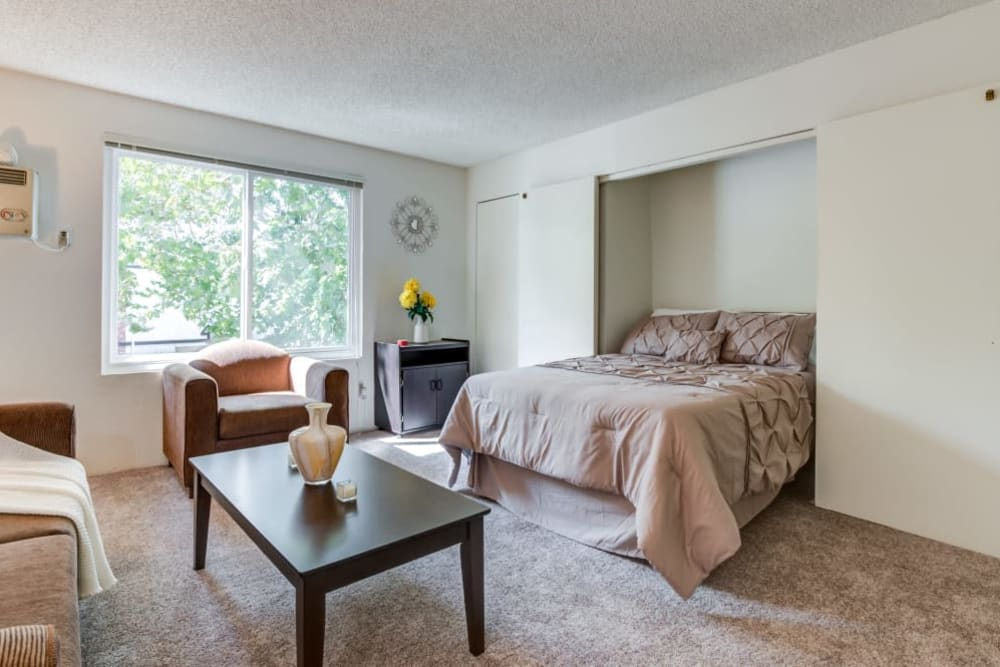 A studio with plenty of space at The Arbor in Studio City, California