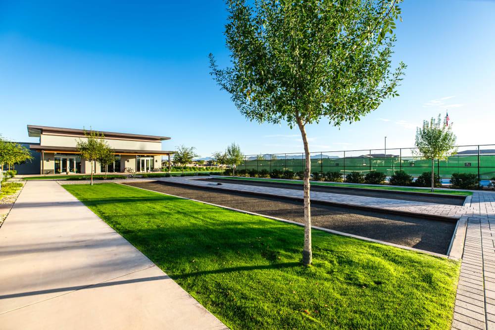 Full-Sized Bocce Ball Court, a Master-Plan Community Amenity at Tavalo at Cadence in Mesa, Arizona
