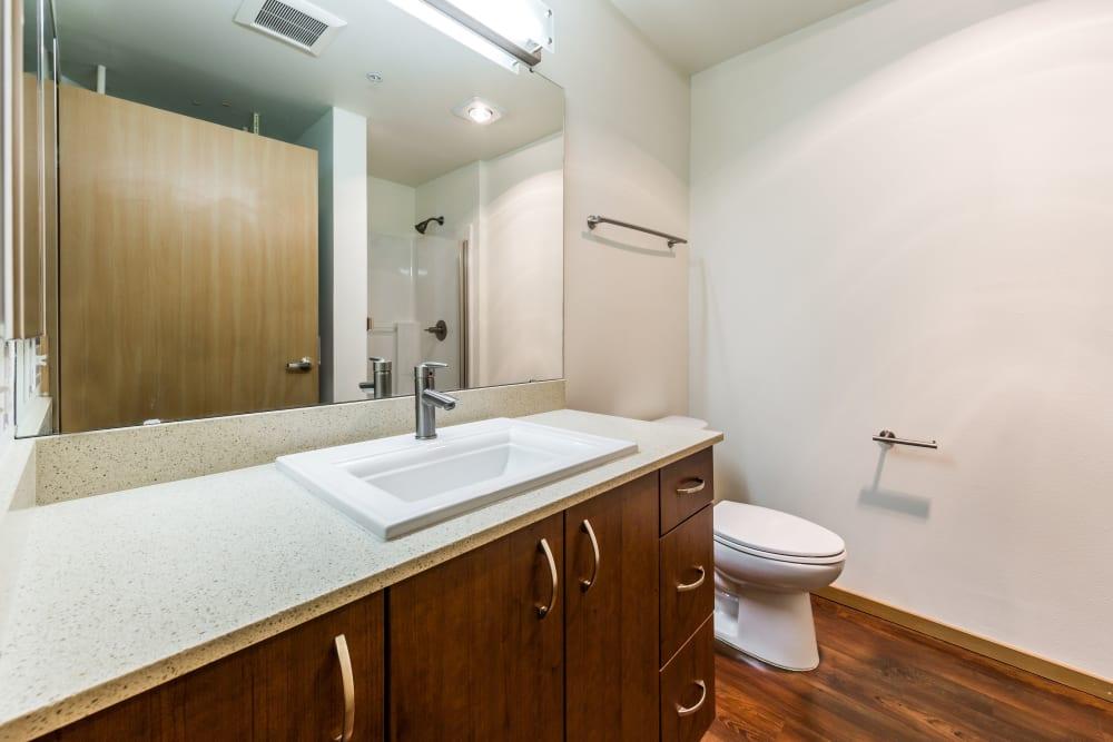 Clean bathroom at Marq West Seattle in Seattle, Washington