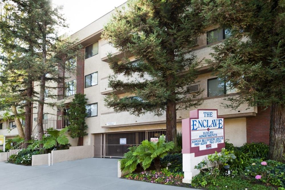 Exterior facade of The Enclave in Studio City, California