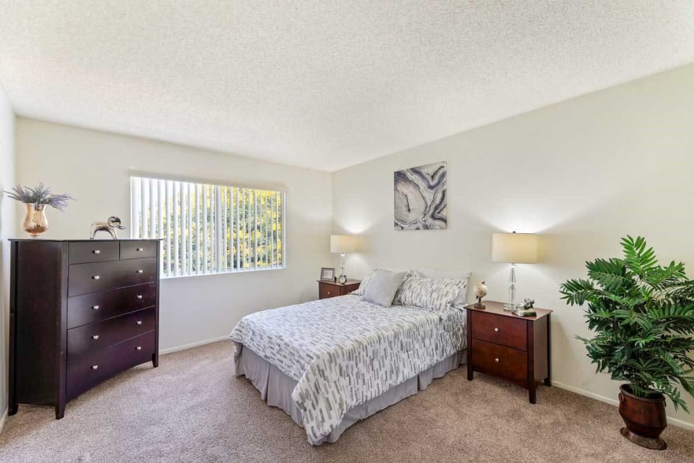 Master bedroom at The Enclave in Studio City, CA