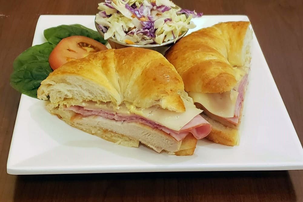 Chicken Cordon Bleu Sandwich at Absaroka Senior Living's cafe