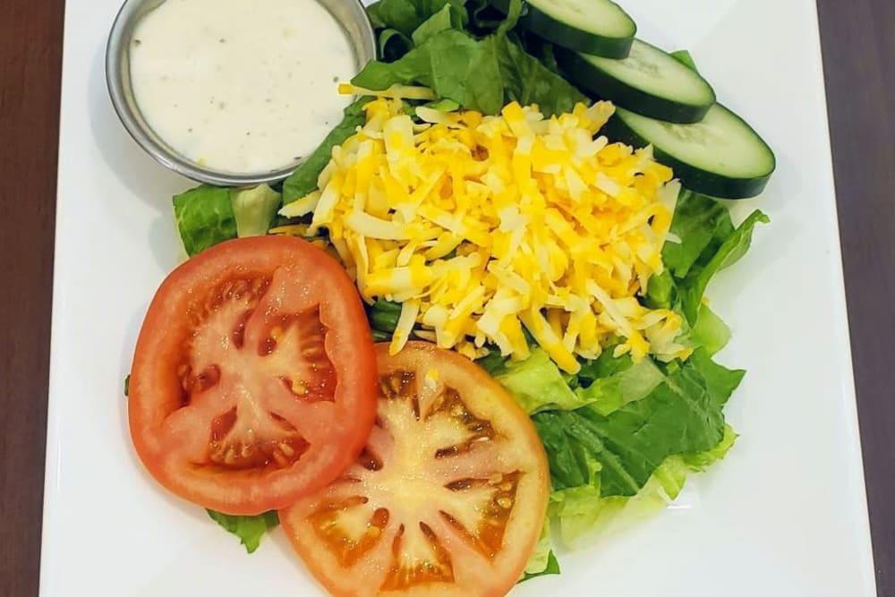 Side Salad at Absaroka Senior Living's cafe