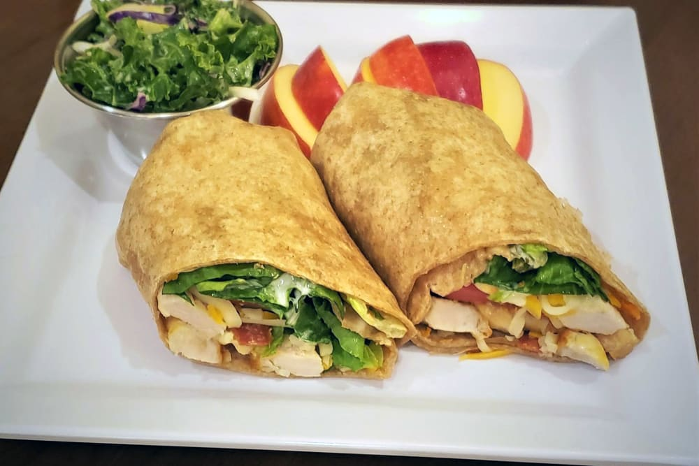 Grilled Chicken Club Wrap at Absaroka Senior Living's cafe