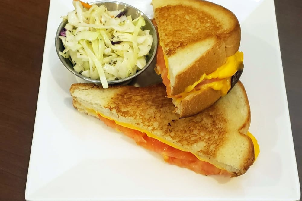 Grilled Tomato Sandwich at Absaroka Senior Living's cafe