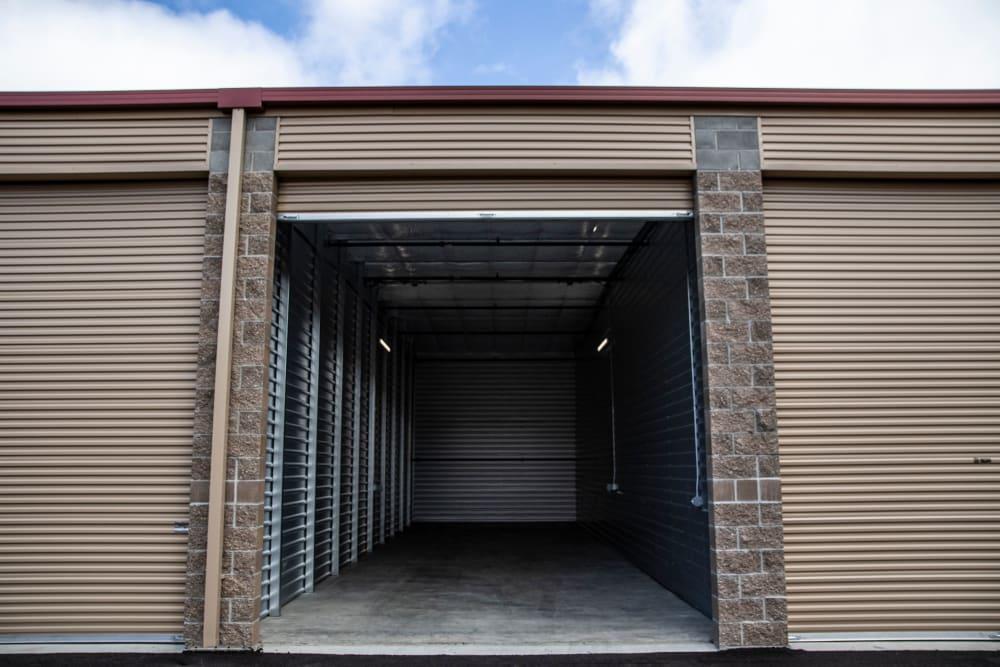 Open exterior unit at Urban Self Storage Enumclaw - Phase II