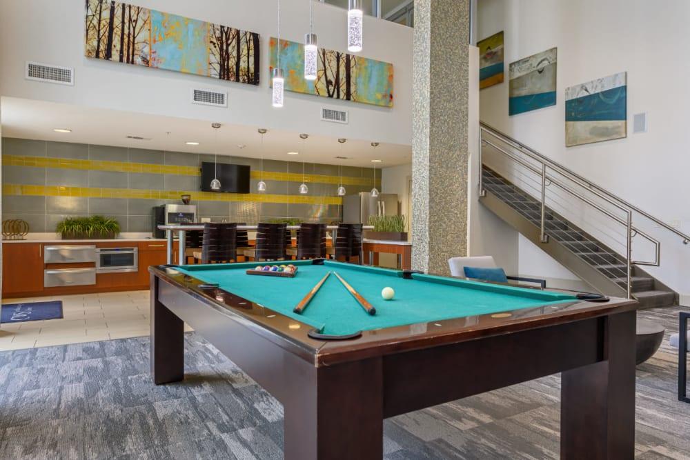 Billiards table at Sabina in Austin, Texas