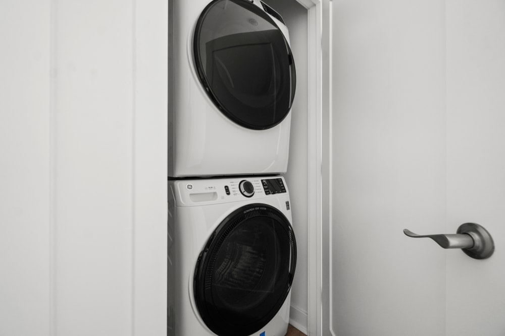 In-home washer and dryer at The Aeronaut in Weymouth, Massachusetts