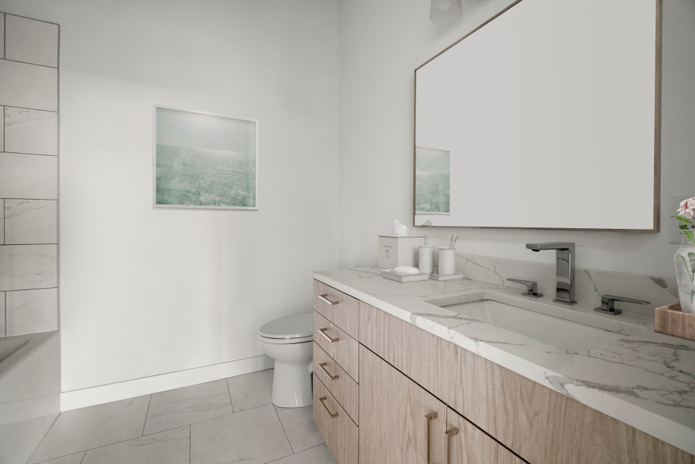 Bathroom at The Aeronaut in Weymouth, Massachusetts