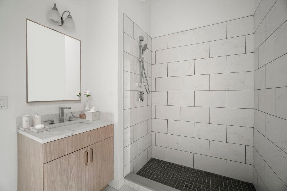 Clean bathroom at The Aeronaut in Weymouth, Massachusetts