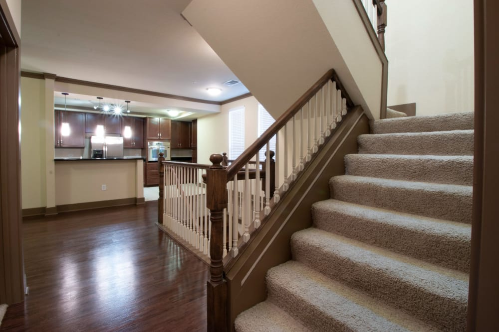 Bright home with stairs at The Marquis of State Thomas in Dallas, Texas