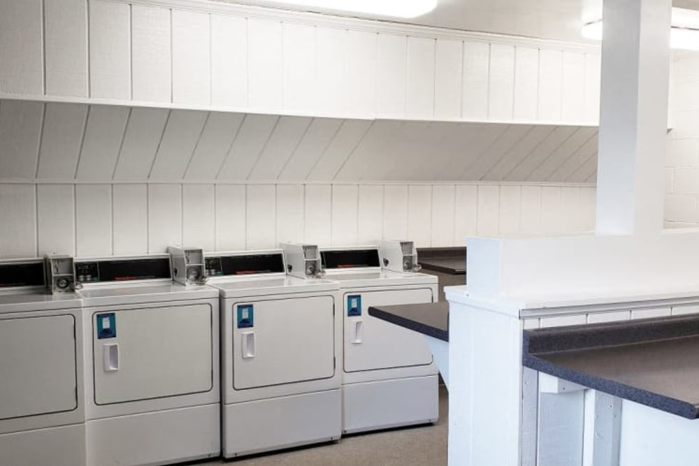 On site washer and dryer at Shaker Square Townhome Apartments