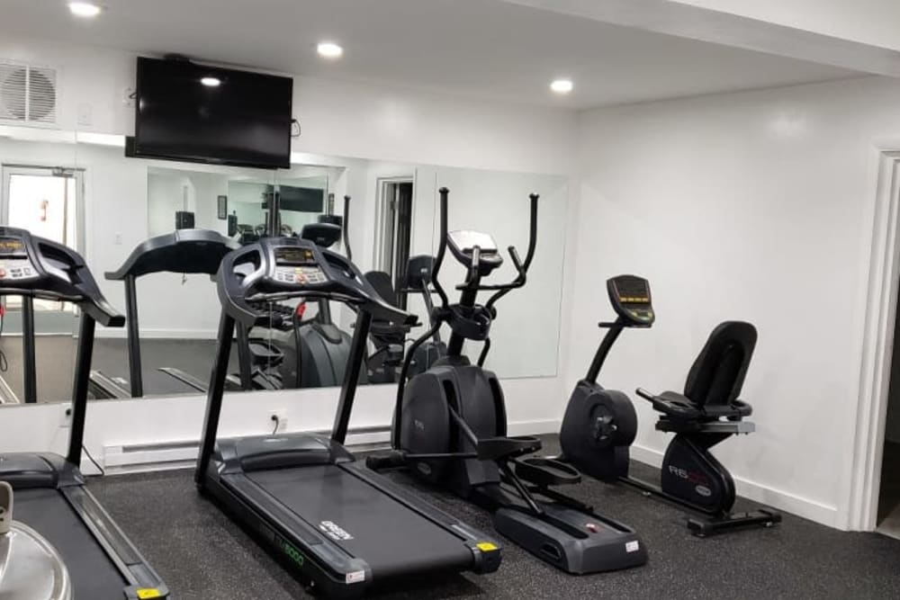 Fitness center offered at Shaker Square Townhome Apartments