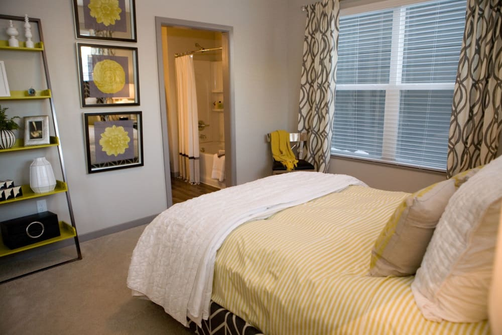 Beautiful bedroom at Palmer House Apartment Homes in New Albany, Ohio