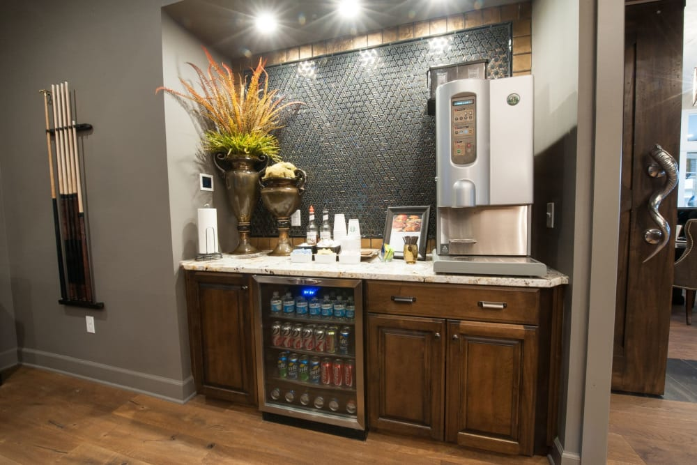 Snack and drink area at Palmer House Apartment Homes in New Albany, Ohio