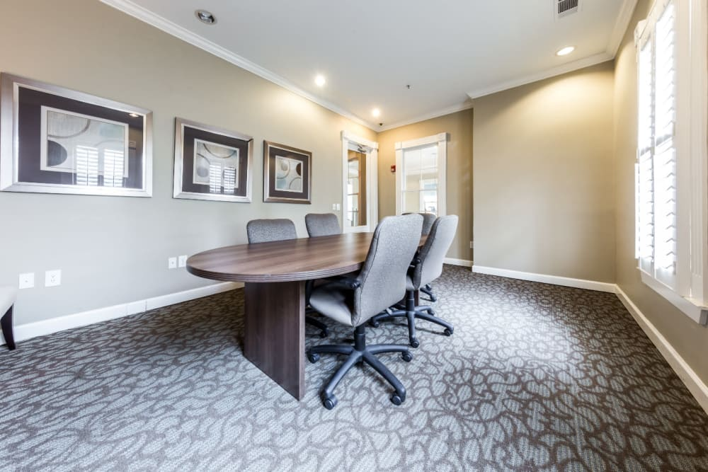 Executive business meeting room at The Marq at Brookhaven in Atlanta, Georgia