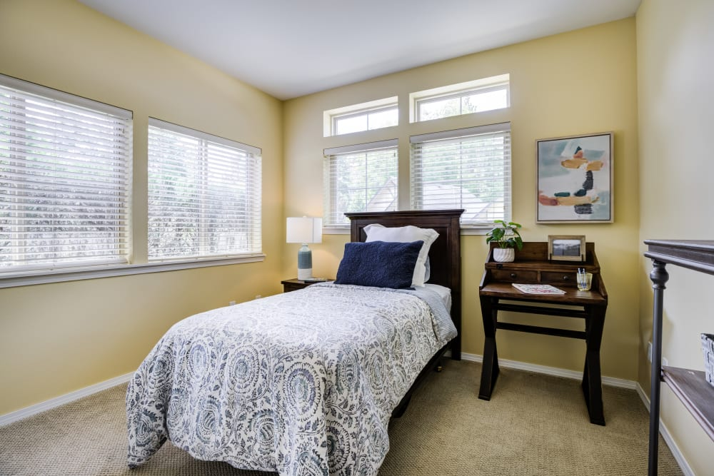 Cottage Guest bedroom at The Lodge at Mallard's Landing in Gig Harbor, WA
