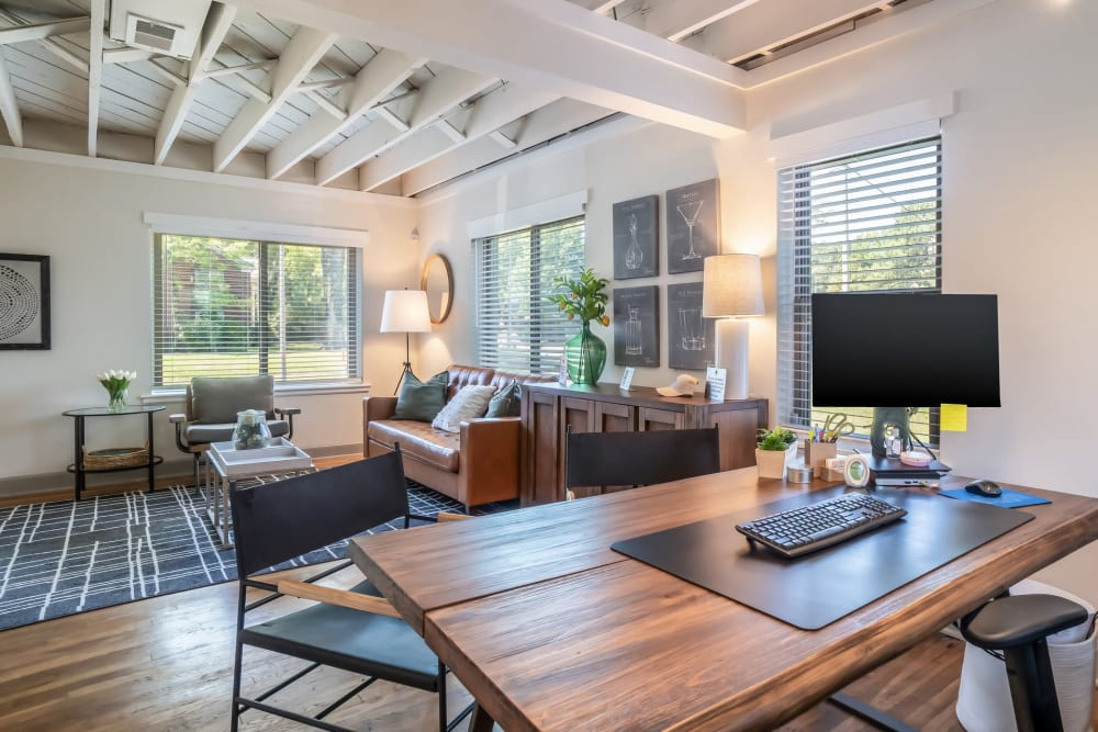 In-home office at Kiwi Goji Apartments in Memphis, Tennessee