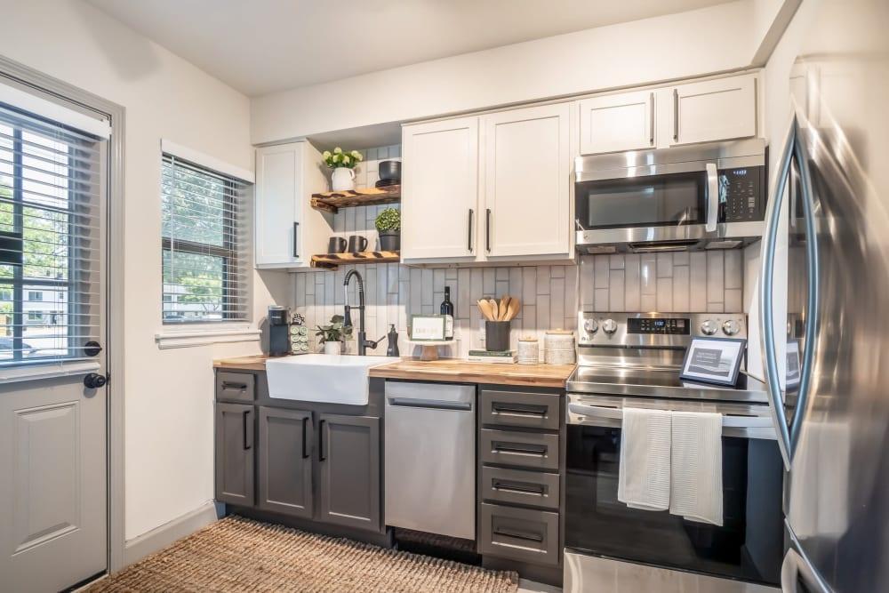 Kitchen at Kiwi Goji Apartments in Memphis, Tennessee