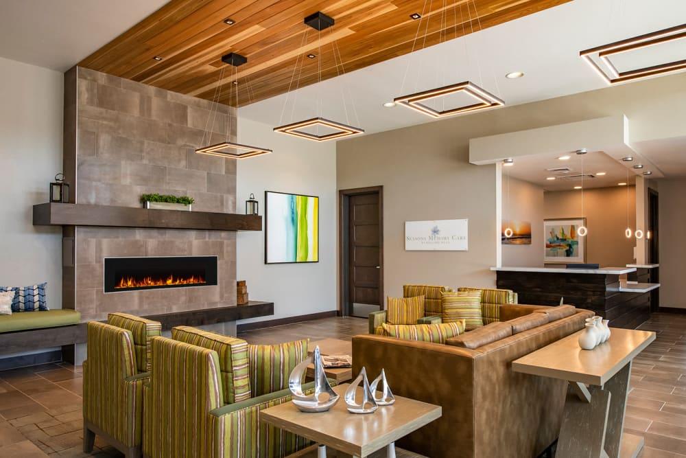Interior Lobby at Seasons Memory Care at Rolling Hills in Torrance, California.