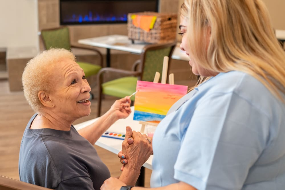Care and activities at Seasons Memory Care at Rolling Hills in Torrance, California.